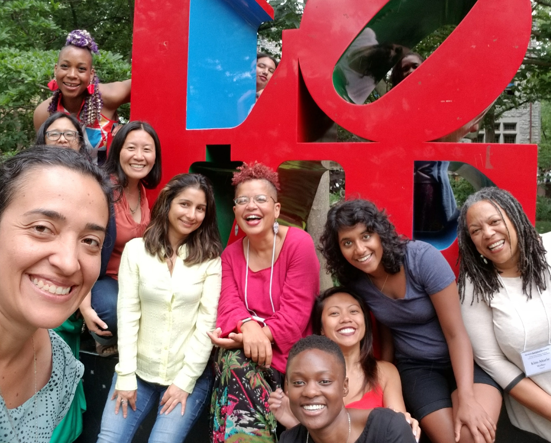 Adiele with VONA Students in Philadelphia, PA